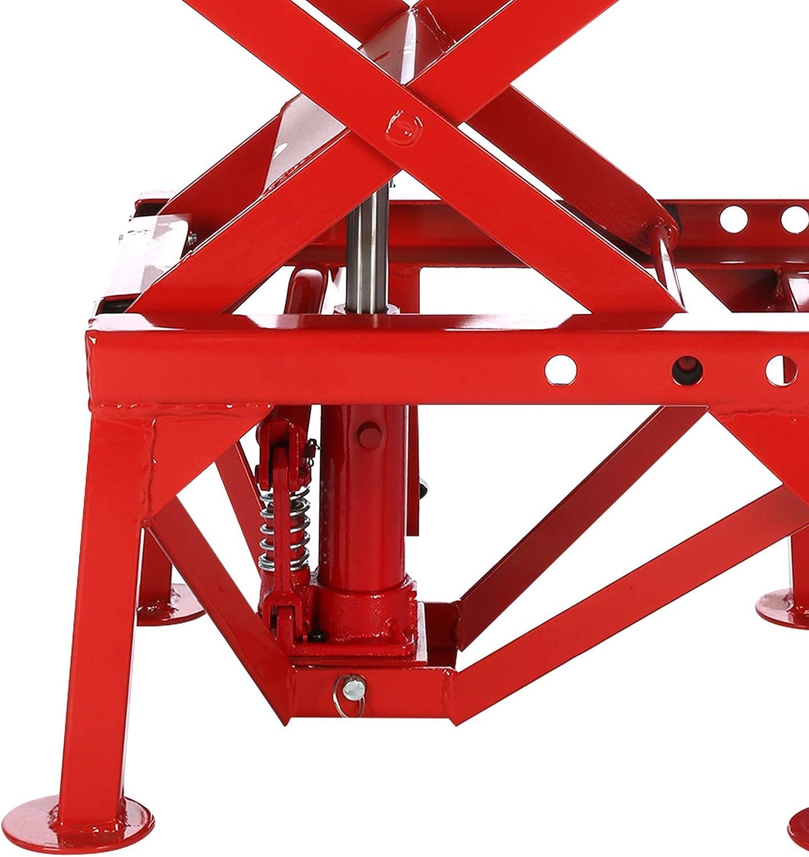 YORKING 300lb Motorcycle Lifter Heavy Duty Hydraulic Scissor Motor Bike ATV Jack Lift Tools Durable
