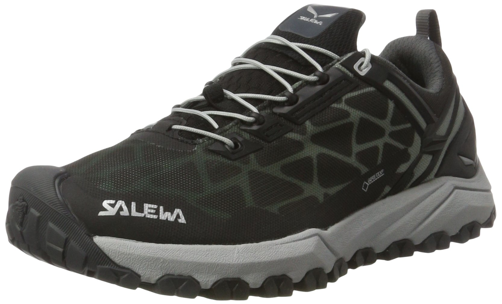 Salewa Women's Multi Track GTX Speed Hiking Shoe, Black/Silver, 8
