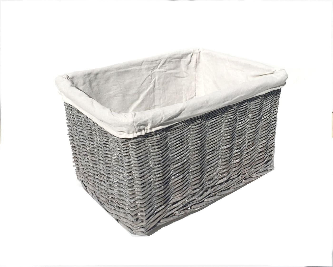 topfurnishing Huge Large Big Deep Wider Wicker Storage Kitchen Toy Log Hamper Laundry Basket Brown, Set of 2 Large