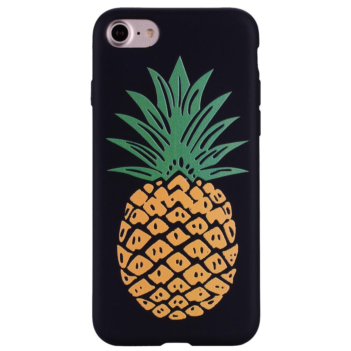 Coque iPhone 7, Anlike iPhone 7 (4,7 Zoll) Té lé phone Coque / É tui Flexible protection en Soft TPU Silicone Shell Etui Housse de Protection Coque Etui Silicone Transparente case cover pour [iPhone 7 (4,7 Zoll)] - Ananas de couleur