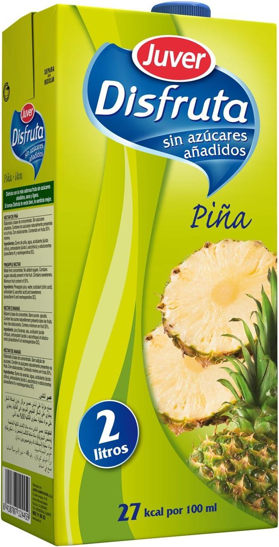 Juver - Disfruta - Bebida Refrescante con Zumo de Piña - 2l