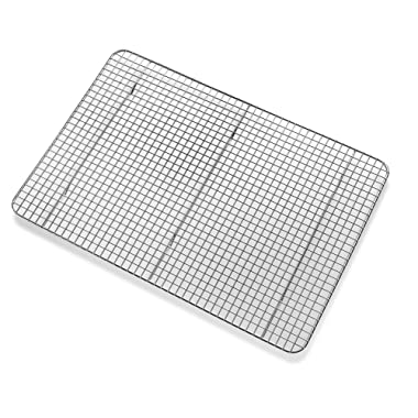 Bellemain Cooling Baking Rack, Chef Quality 12 inch x 17 inch Tight-Grid Design, Oven Safe, Fits Half Sheet Cookie Pan, Silver