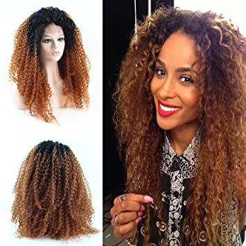 Eseewigs Afro Kinky Curly Wig Ombre résistant