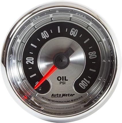 AUTO METER 1219 American Muscle 2-1//16 Electric Oil Pressure Gauge 0-100 PSI, 52.4mm