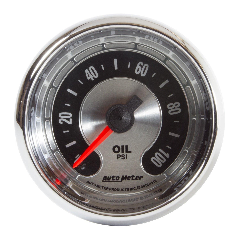 AUTO METER 1219 American Muscle 2-1/16'' Electric Oil Pressure Gauge (0-100 PSI, 52.4mm) by AUTO METER