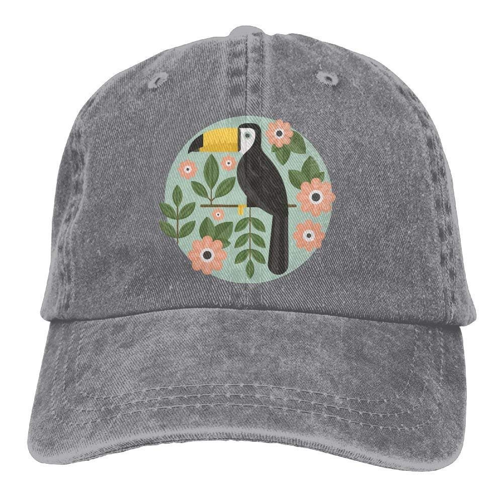 2018 Adult Fashion Cotton Denim Baseball Cap Floral Bird Toucan Classic Dad Hat Adjustable Plain Cap JTRVW Cowboy Hats