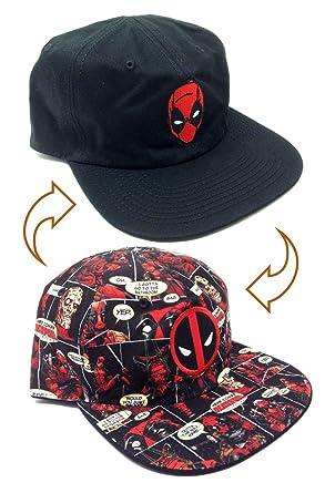 3b7f9c965 Marvel Comics Deadpool Reversible Flat Bill Adjustable Hat
