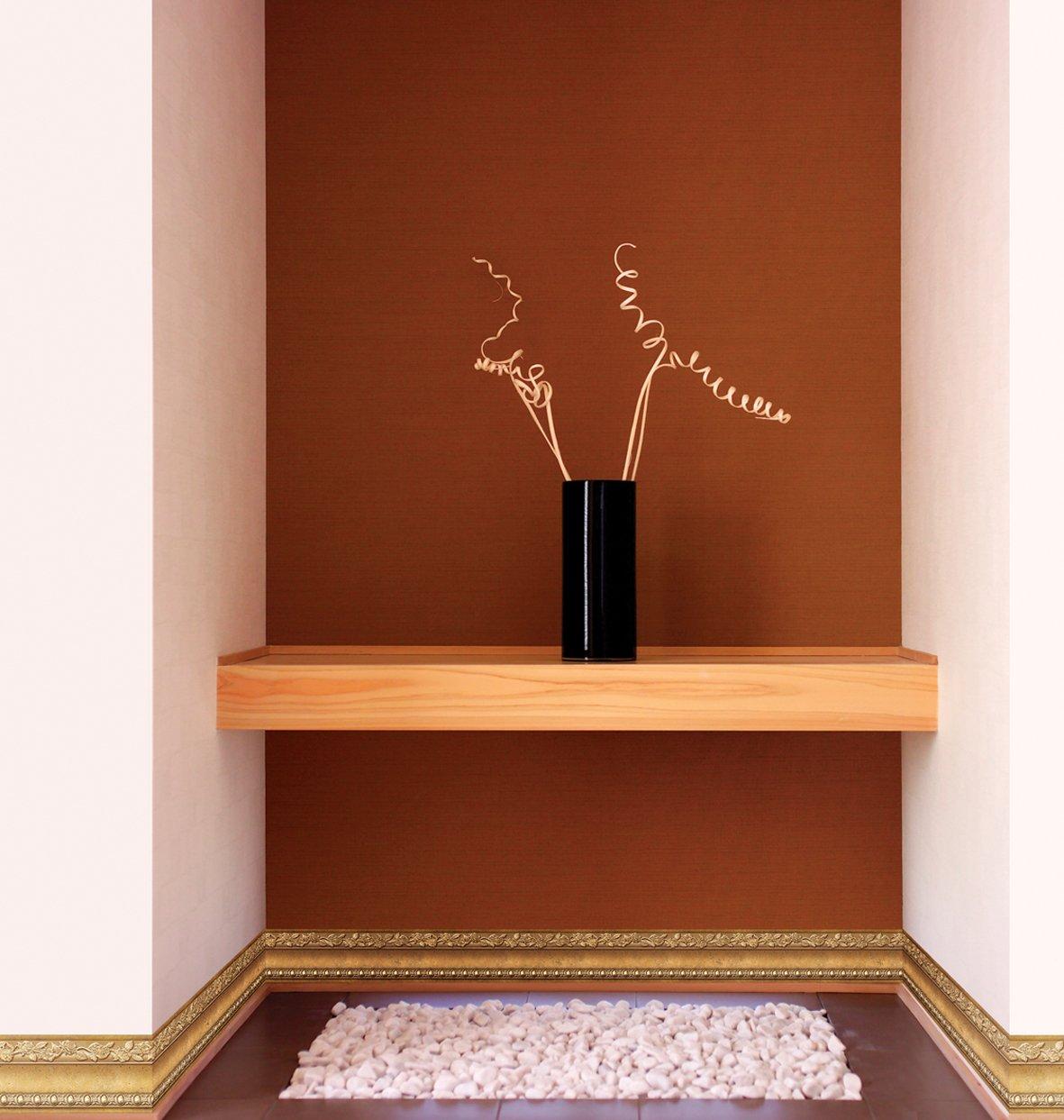 caf/é oro FIXPIX Flor moldeo c/áscara y palillo de la pared frontera f/ácil de aplicar