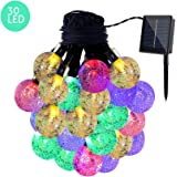 JMKMGL Solar LED String Lights, 30LED 16.4ft Multi-color Waterproof Solar Decorative Light for Outdoor,Indoor,Party,Wedding,Garden,Holiday Decoration,Halloween,Xmas Tree (Ball)