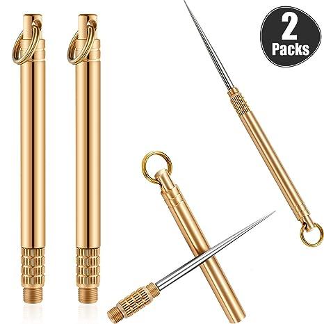 Amazon.com: 2 palillos de dientes portátiles de titanio con ...