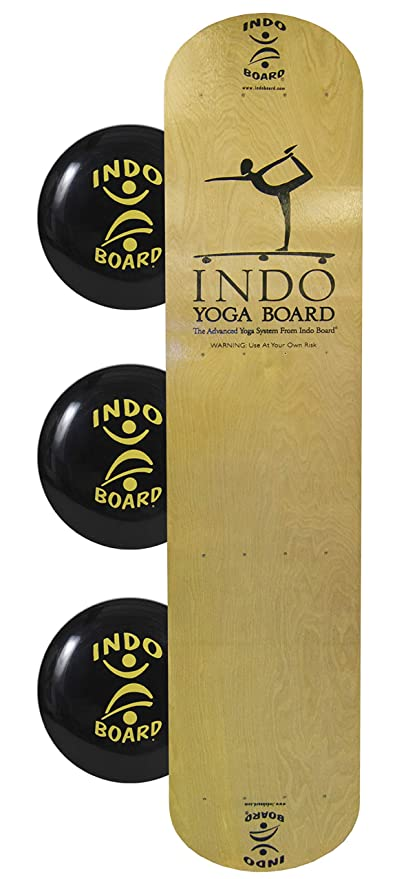 Amazon.com : INDO BOARD Yoga Board with Wood Deck and 3 ...