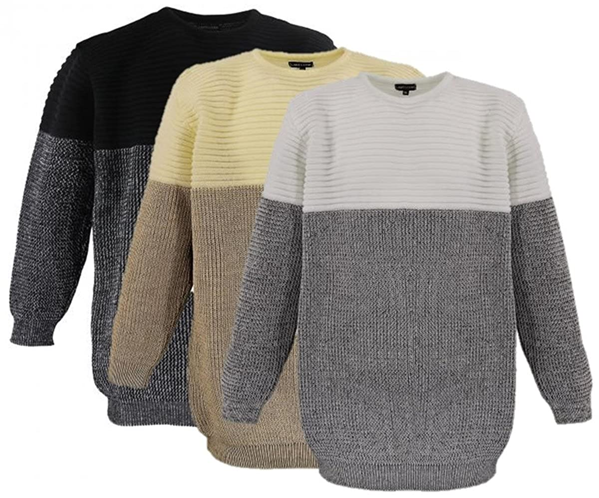 Lavecchia  Herren T-Shirt langarm Sweatshirt Longsleeve  Übergrößen 3858 wow