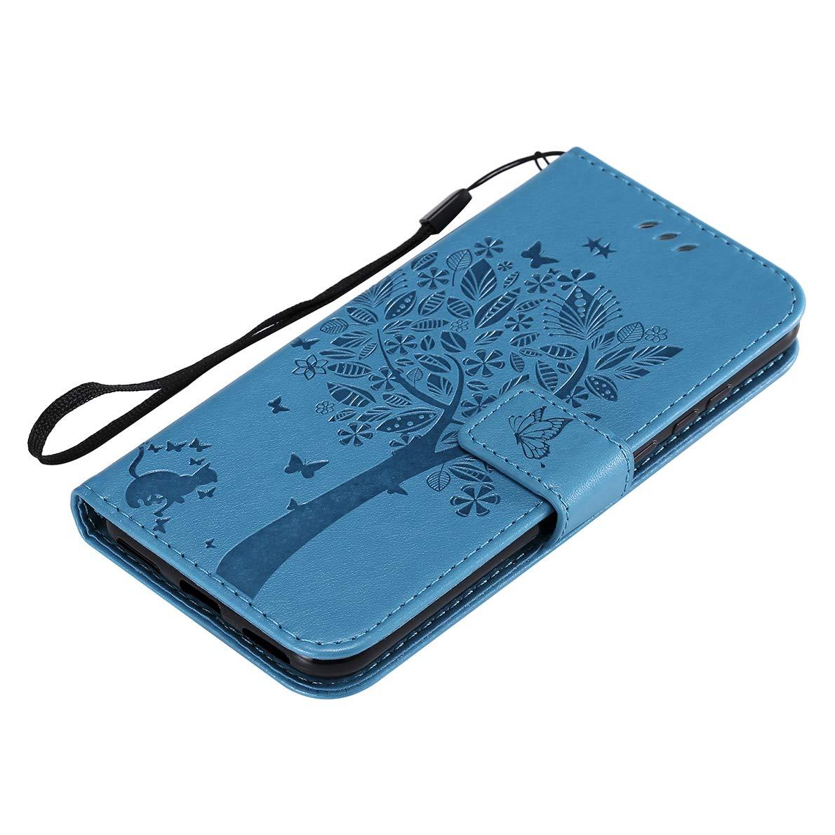 Y6 Pro 2019 Honor 8A Honor 8A Cas SHUYIT Coque Huawei Y6 2019 /Étui en Couleur PU Cuir Flip Case de Protection Portefeuille Etui Stand Cover Housse pour Huawei Y6 2019 Y6 Pro 2019