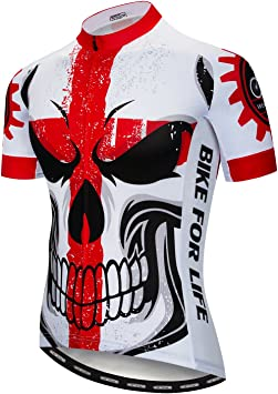 Weimostar Team traspirante in jersey a maniche corte Maglia da ciclismo da uomo
