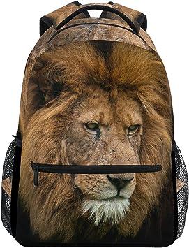 COOSUN Retrato de Rey león Casual Mochila Mochila Escolar Bolsa de Viaje Retrato de Rey león