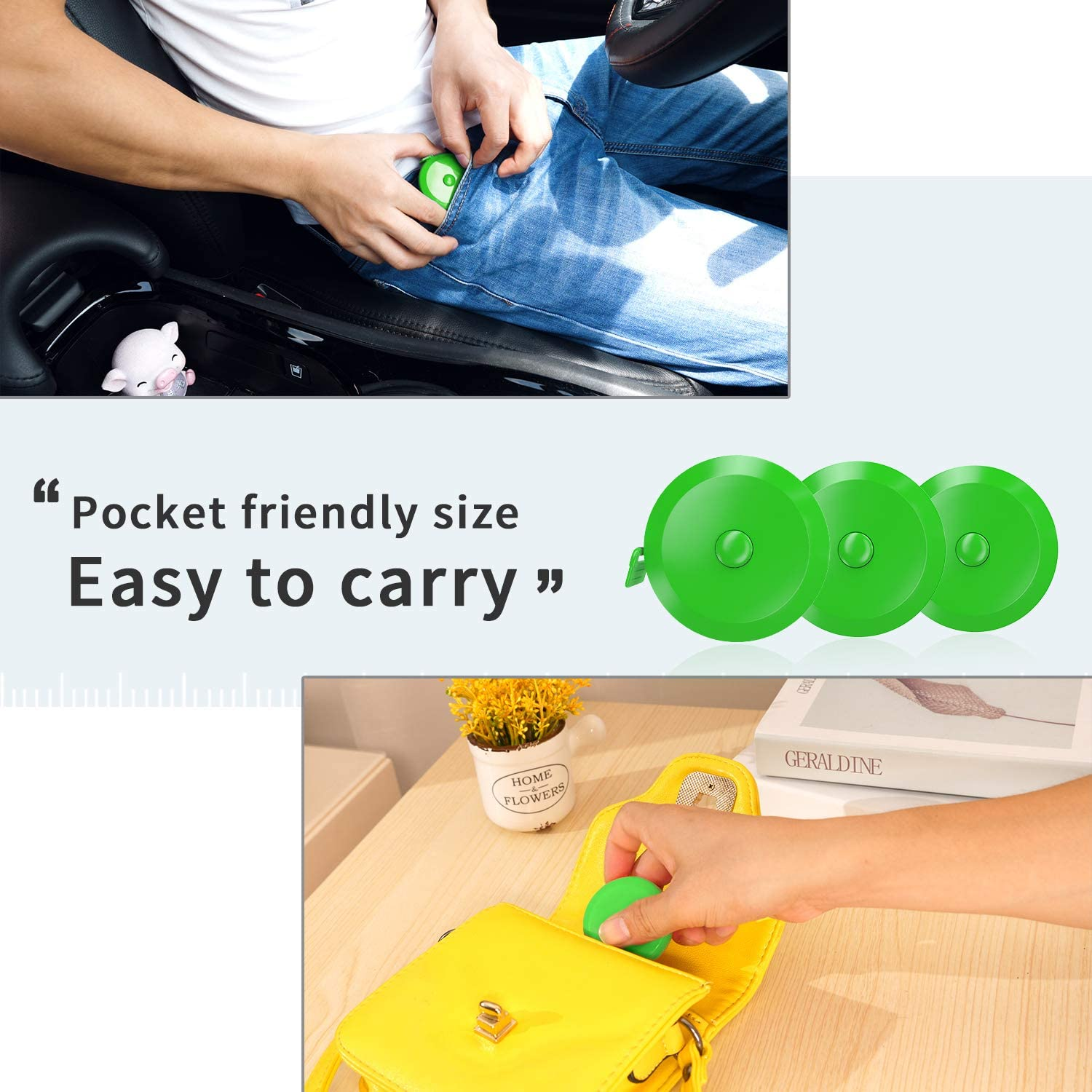 DiCUNO 60-Inch 1.5 Meter Soft and Retractable Tape Body Tailor Sewing Craft Cloth Dieting Measuring Tape 3 Pcs of Yellow with Soft Tape
