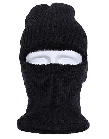 8b1f9fcc634 Muuttaa Warm Knitted Balaclava Beanie Hat