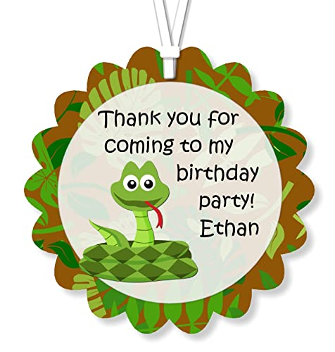 Amazon Com Personalized Reptile Snake Birthday Party Favor Tags