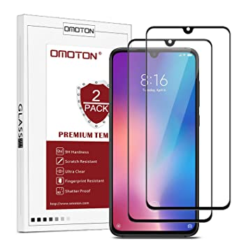 OMOTON Protector Pantalla para Xiaomi Mi 9 Cristal Templado Xiaomi Mi 9, Borde 2.5D