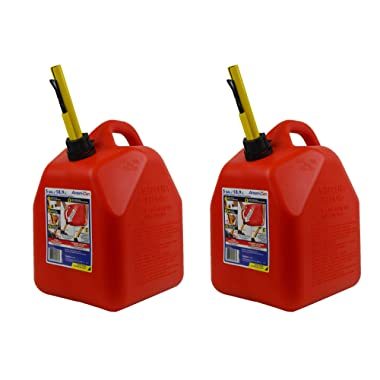Scepter 5 Gallon EPA and CARB Ameri Can Gas Can w/Spill Proof Spout (2 Pack)