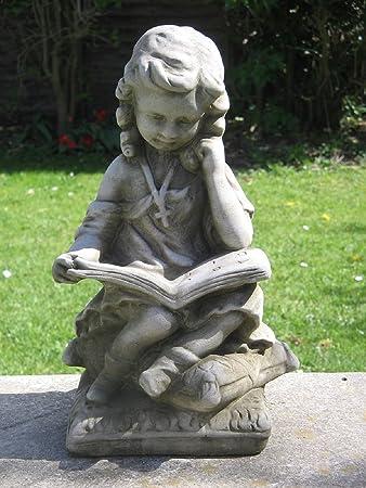 Dragonstone Girl Reading Garden Statue