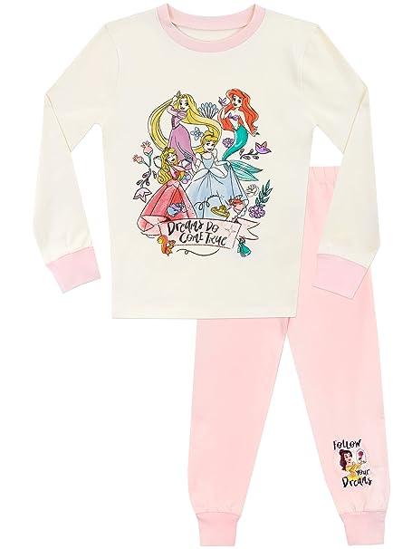 Disney Pijamas de Manga Corta para niñas Princesas Ajuste Ceñido 18-24 Meses