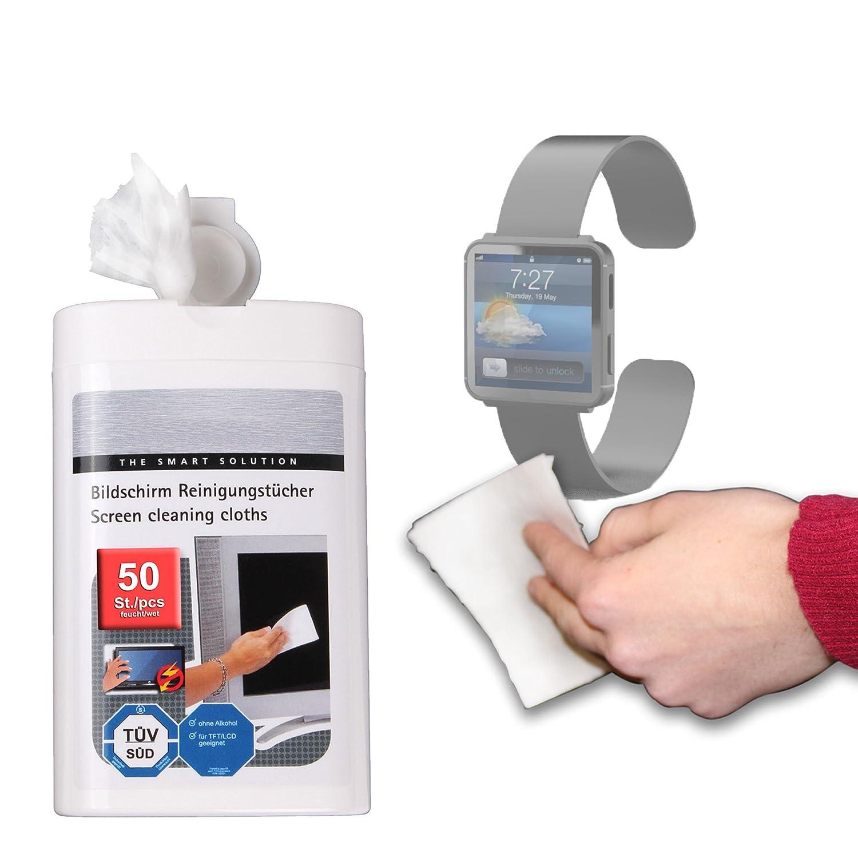 Duragadget Lingettes nettoyantes pour montre connectée TOMTOM Touch, Adidas MiCoach Smart Run, Apple iWatch, Archos, Carrefour SimWatch SSW01, Cookoo Smart ...