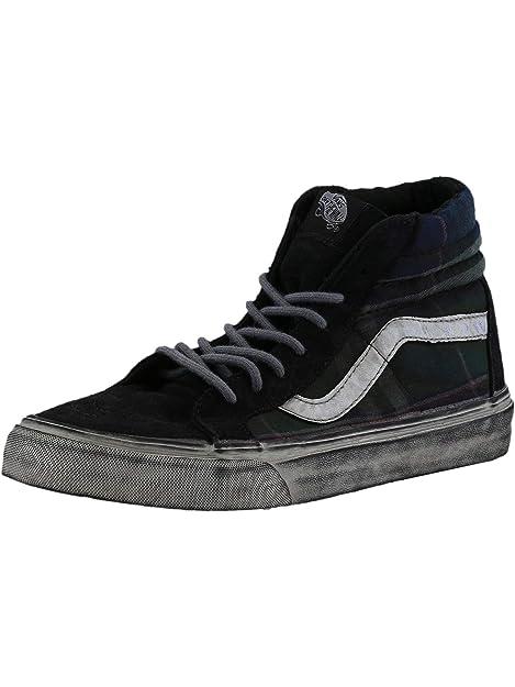 336ee95b94 Vans Sk8-Hi Reissue Ca Over Washed Plaid Nine Iron Blanc De Ankle ...