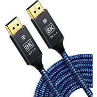 8K DisplayPort Cable DanYee DP Cable Nylon Braided High Speed DP Code 8K@60Hz DP to DP Cable for Laptop PC Monitor TV…