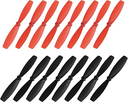 Orange 4 Pairs uxcell RC Propellers 55mm CW CCW 2-Vane Main Rotors for Walkera QR Ladybird Quadcopter