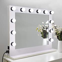 SUPER DEAL Plus Clear Hollywood Vanity Mirror