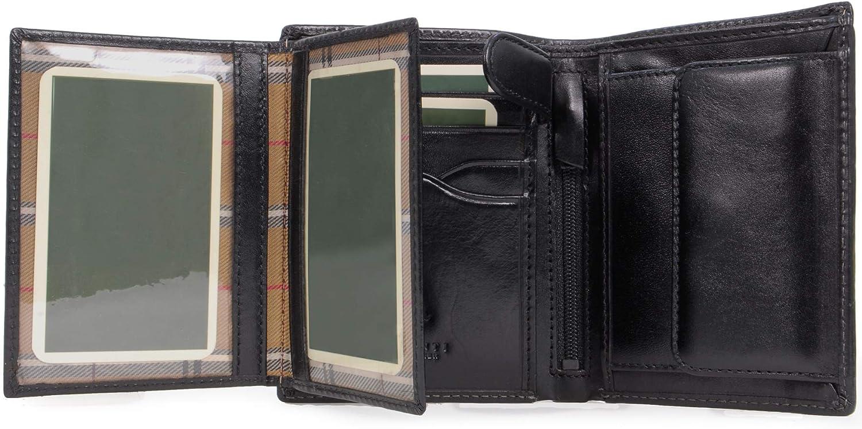 Cartera Visconti MZ3Milan, estilo italiano, de piel, en caja de regalo, color Negro, talla L