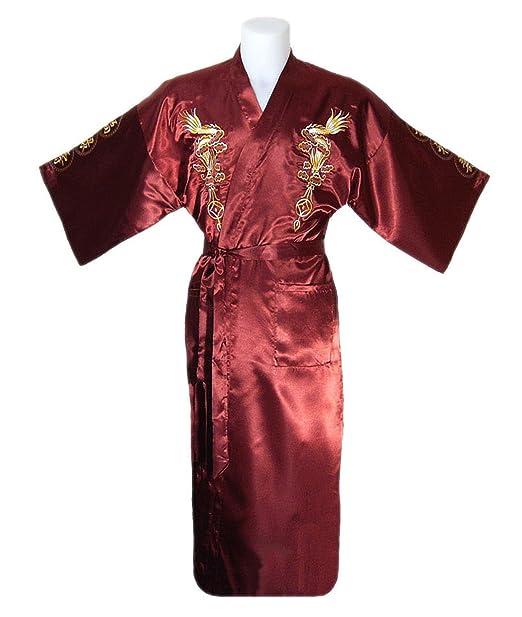 Pijama estilo Kimono con Bordado Japonés, para hombre: Amazon.es: Ropa y accesorios