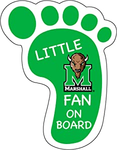 MARSHALL THUNDERING HERD LITTLE FAN ON BOARD MAGNET-MARSHALL UNIVERSITY FOOTPRINT MAGNET