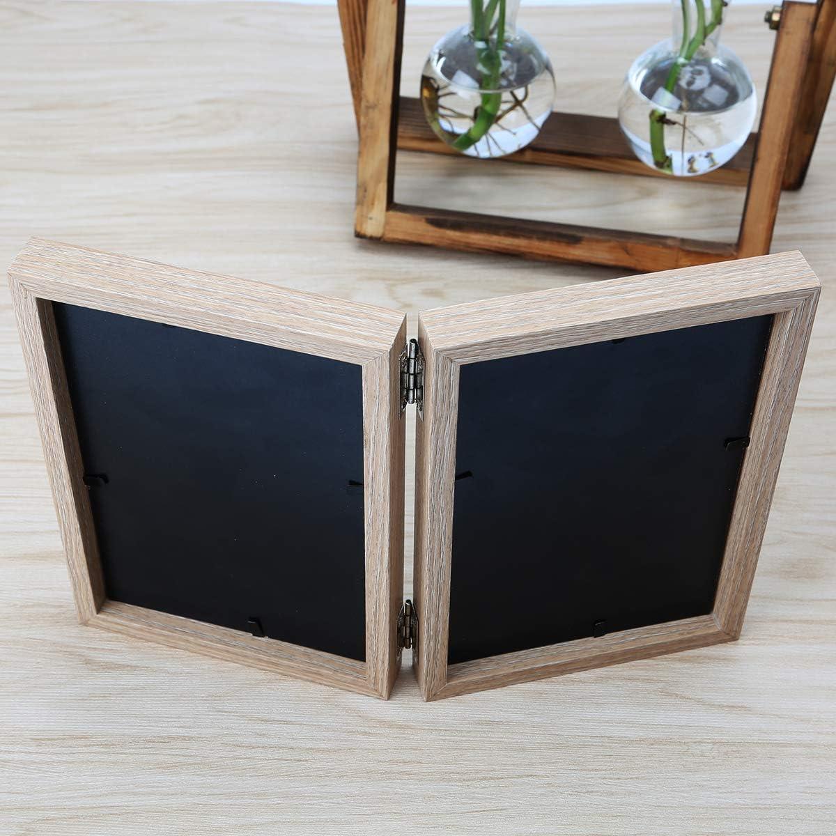 Holz Bilderrahmen Doppel Klappbar 10x15cm Bilderrahmen Desktop Fotorahmen Mit Glasfront