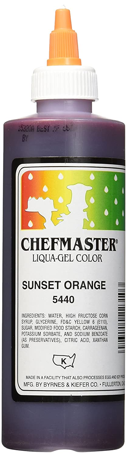 Chefmaster Liqua-Gel Food Color, 10.5-Ounce, Sunset Orange