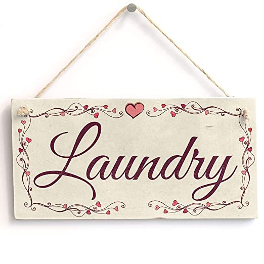 Mr.sign Laundry Cartel de Pared Madera Placa Madera Palet ...