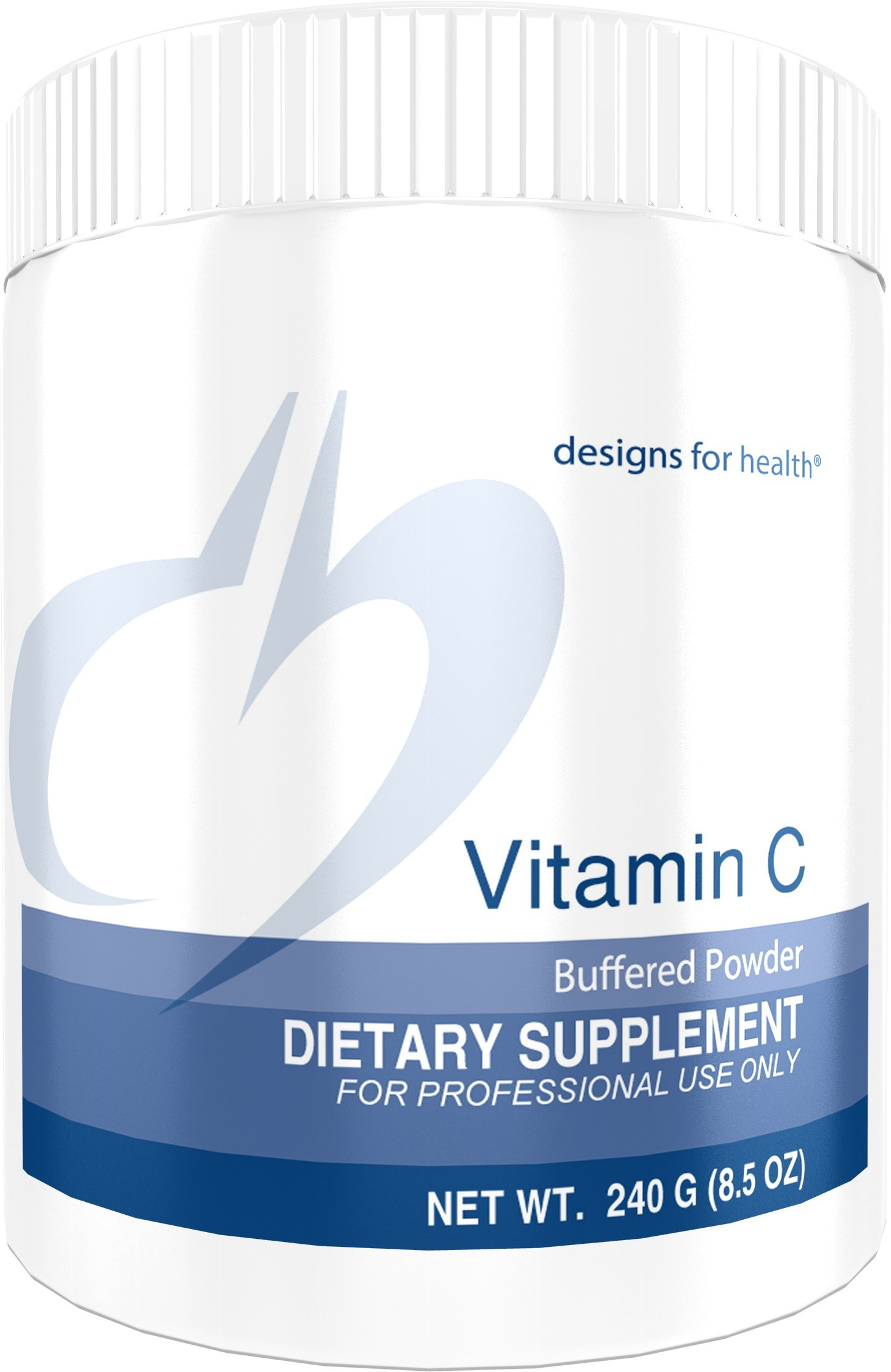 Designs for Health Buffered Vitamin C Powder 2000mg - High Dose Vitamin C with Alkalizing Minerals (240g / 80 Servings)