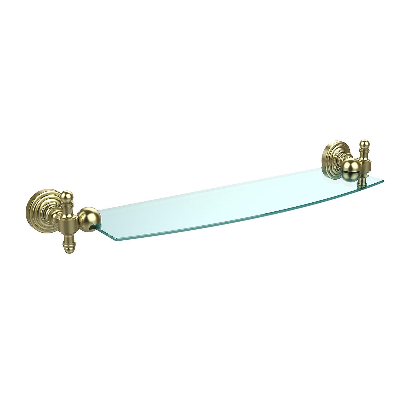 Allied Brass RW-33//18-BBR Retro Wave 18 Inch Glass Shelf Brushed Bronze