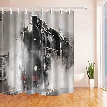 Amazon.com: NYMB Locomotive Decor, Steam Engine Train on Rail Road ...