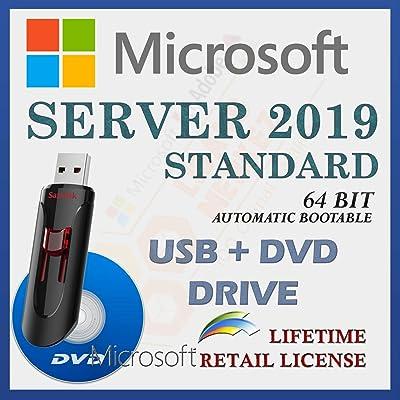 MS Server 2019 Standard   Unidad USB + DVD   Con factura   64 bit   Inicio automático de la instalación   Versión completa   Envío rápido   NUEVO