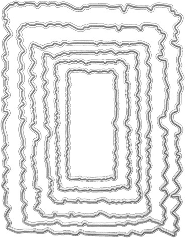 Plantilla De Metal De Geometr/ÍA 1 Pieza Scrapbook De Tarjetas De Papel Troqueles De Metal Dies Corte Para Scrapbooking /ÁLbum Diy Troqueles De Corte Plantillas De Corte Tarjetas De Papel