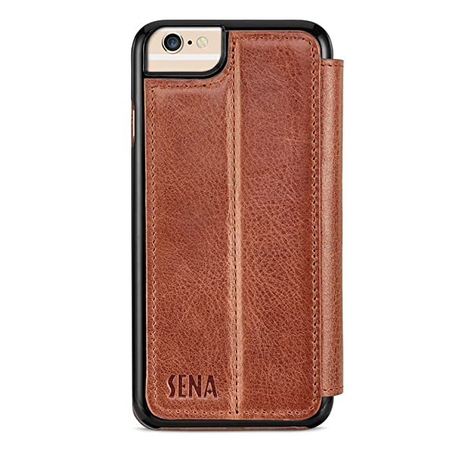 more photos 998f4 dee97 Sena Cases Genuine Leather WalletBook Iphone 7, Iphone 6/6S (Heritage  Cognac)