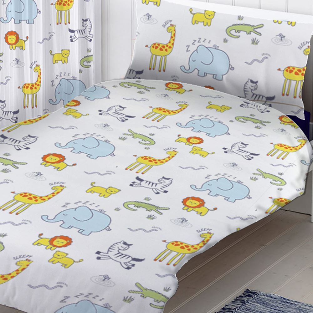 The Gift Scholars Safari Junior Toddler Duvet Cover and Pillowcase Set