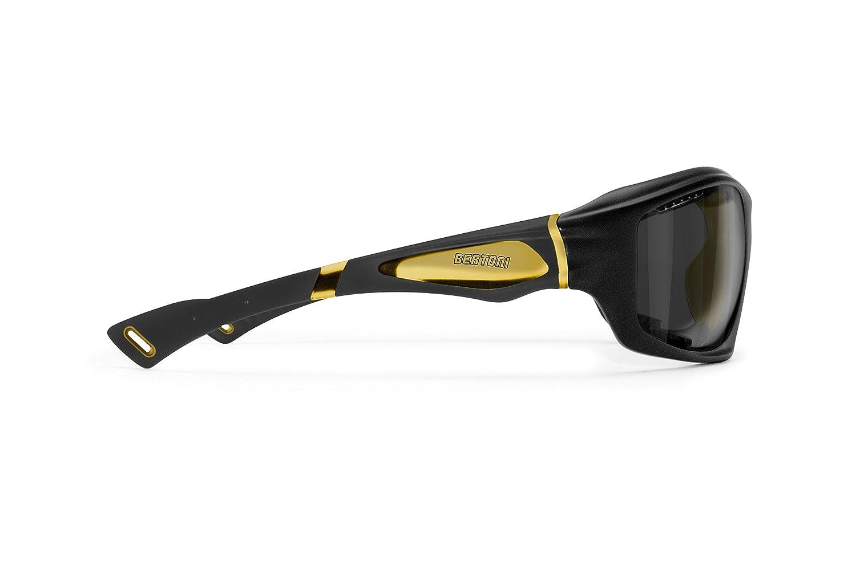 Bertoni Gafas Deportivas Polarizadas Hidrofóbicas Envolventes a Prueba de Viento para Ciclismo Carrera Deporte Acuaticos Esqui Pesca Kitesurf Mod. ...