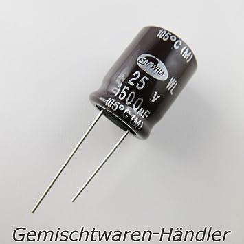 20x Elko Kondensator radial 470/µF 16V 105/°C ; EKE00DC347D00E ; 470uF Vishay