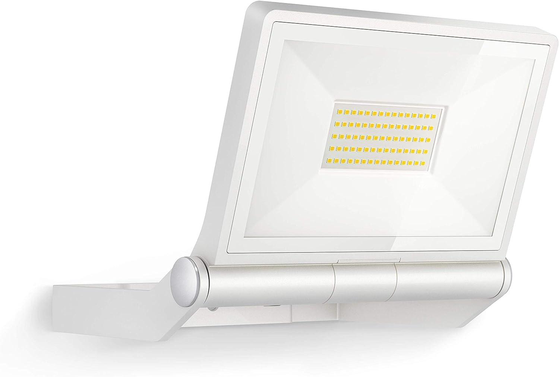 Steinel 065270 XLED ONE XL Foco LED para exteriores (sensor de movimiento de 180°, 43,5 W, 4400 lm a 3000 K, aluminio), color blanco