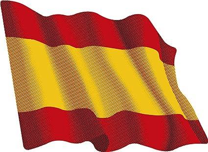 Amazon.es: Artimagen Pegatina Bandera Ondeante sin Escudo España 80x60 mm.