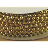 3mm Faux Pearl Plastic Beads on a String Craft Roll Metallic Gold