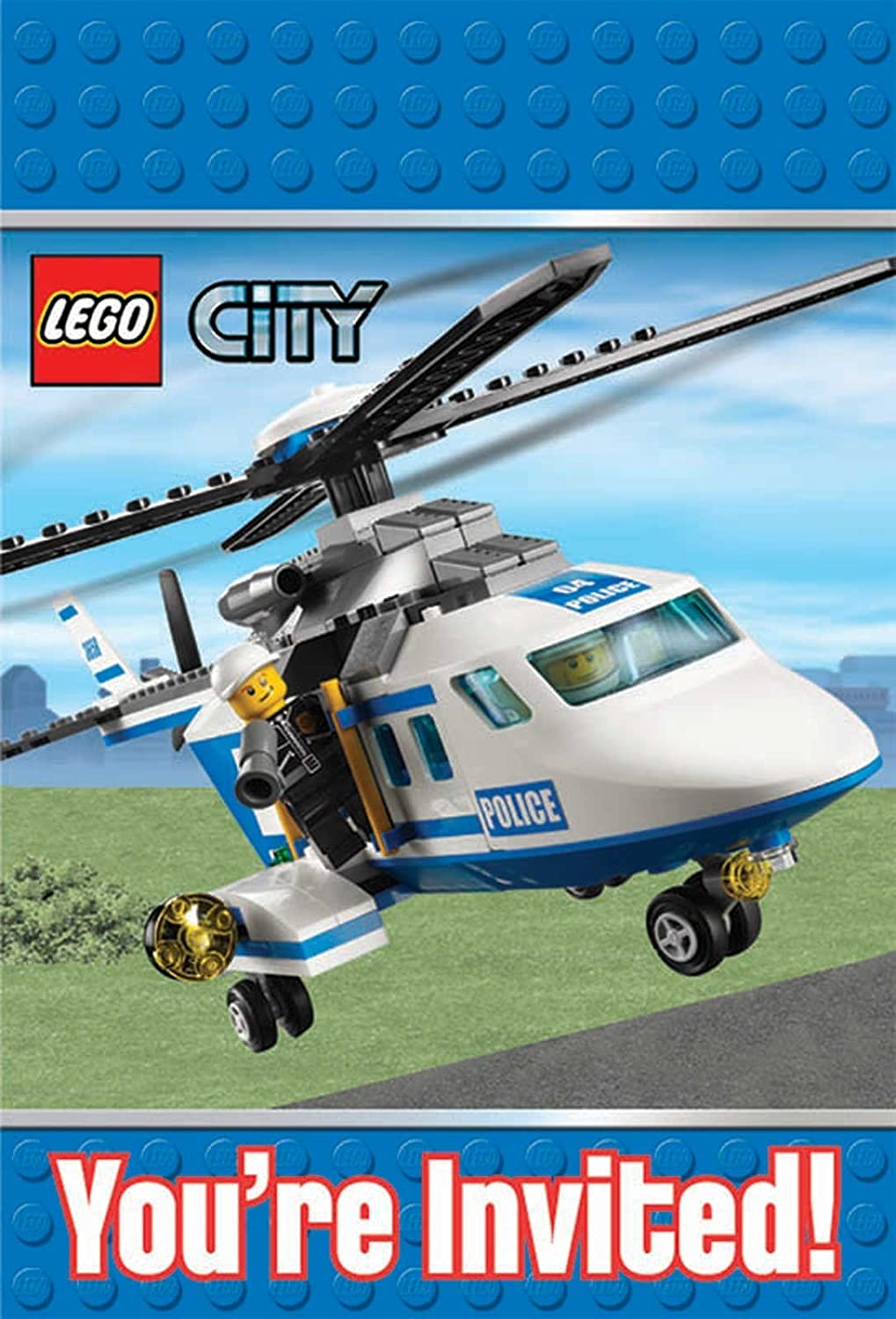 Amazon LEGO City Invitations Party Accessory Toys Games – Lego City Birthday Invitations